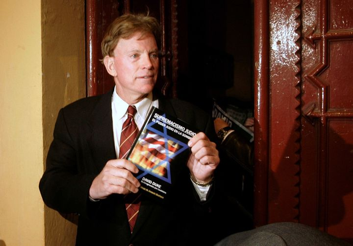 David Duke, former Grand Wizard of the Ku Klux Klan.