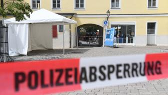 ANSBACH, GERMANY - JULY 25:  The entrance of a music festival where a suicide bomber blew himself up on Sunday, is seen on July 25, 2016 in Ansbach, Germany. According to police a 27-year-old Syrian, who had been denied asylum, blew himself up on Sunday evening after being turned away from an open-air music festival in Ansbach, southern Germany.  (Photo by Lennart Preiss/Getty Images)