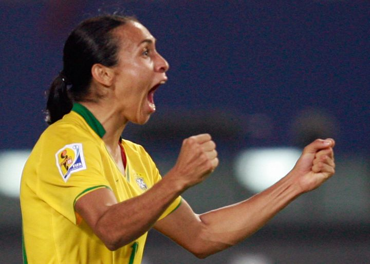 Marta was named the world's best player five years in a row.