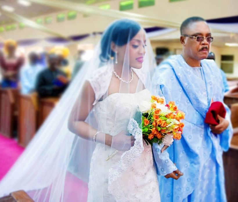 <i>My father walking me down the aisle&nbsp;<br><br></i>