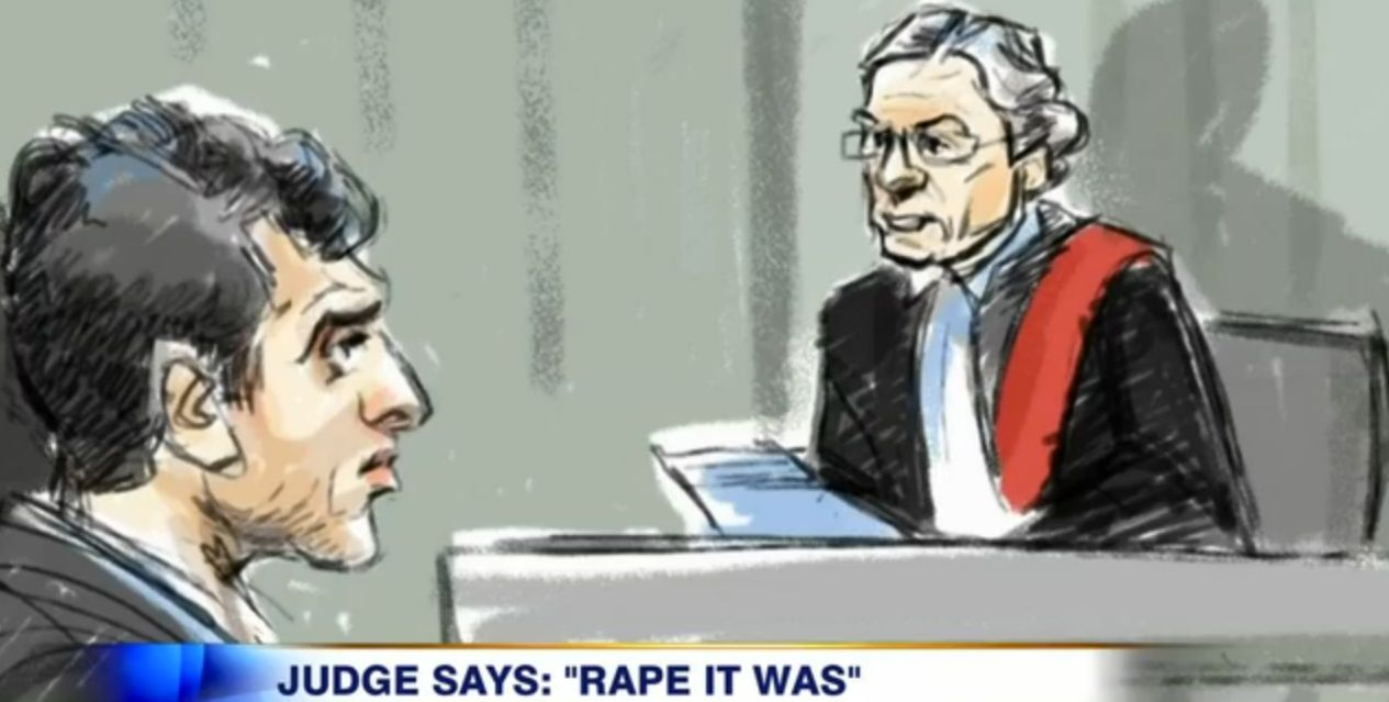 An illustration from the day in court that Judge Marvin Zuker announced Mustafa Ururyar's guilty verdict.