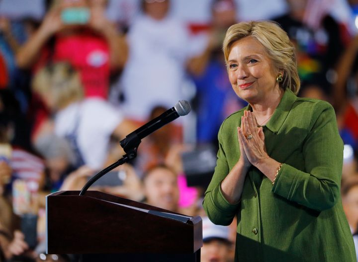 Hillary Clinton on Tuesday became the first woman to top a major U.S. political party's ticket for the White House.
