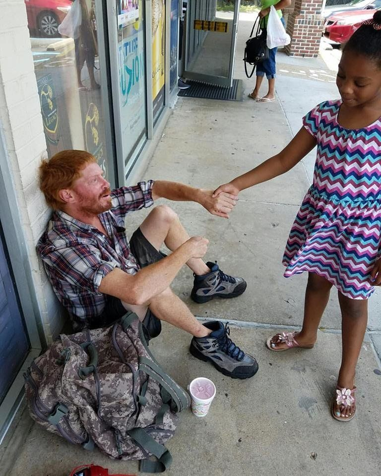 "Kenyatta Lewis posted on Facebook that <a href=""http://www.huffingtonpost.com/entry/6-year-olds-act-of-kindness-touches-heart"