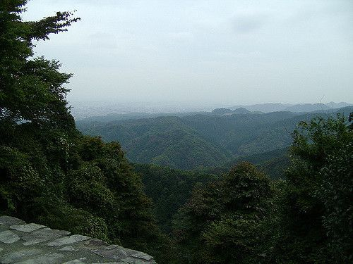 View from the observation deck on Takao san mountain