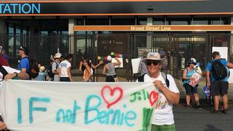 Elisabeth Heurtefeu, a former principal from Chicago, traveled to the Democratic convention in Philadelphia this week to protest Clinton and support the Green Party candidate, Jill Stein.