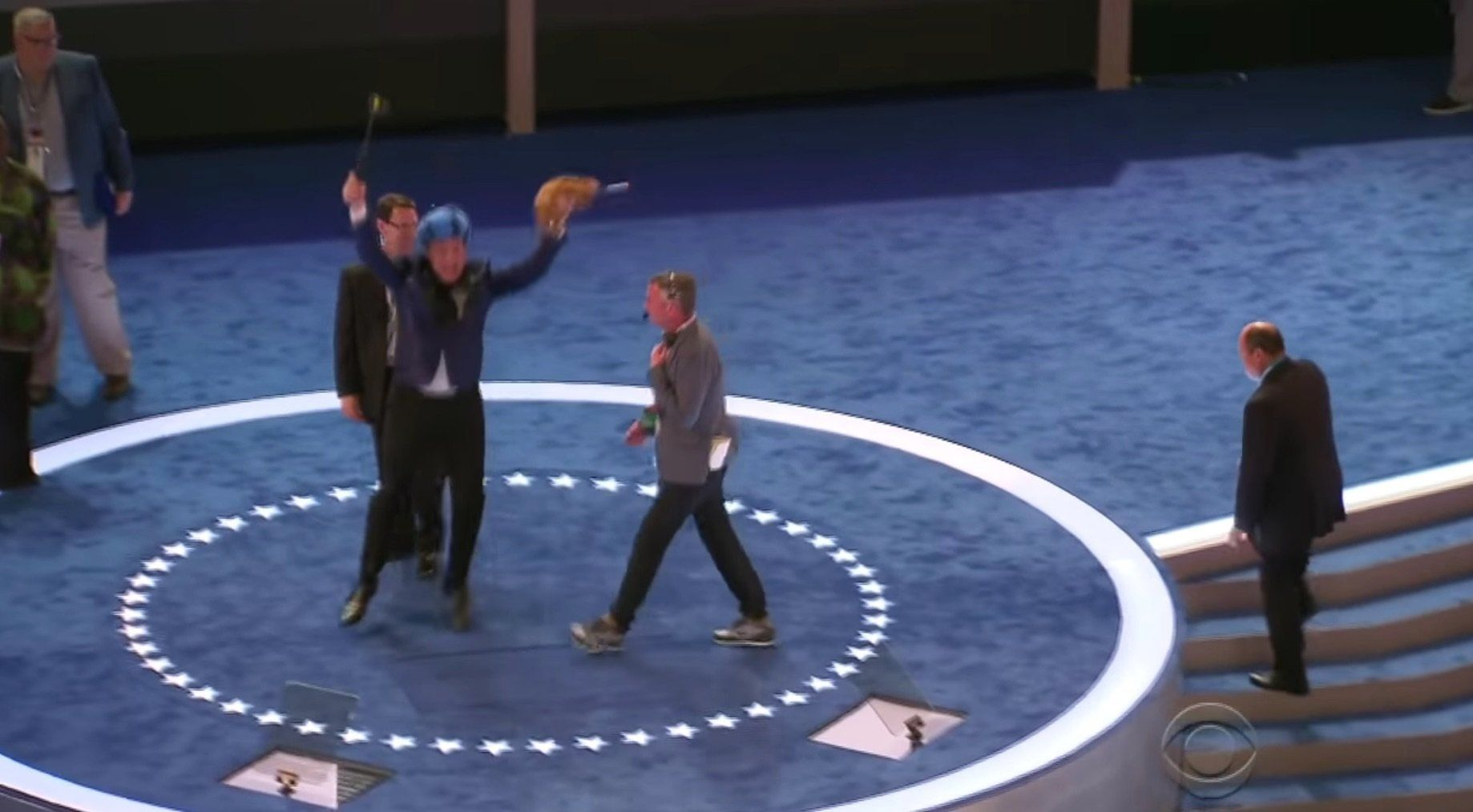 Watch Stephen Colbert Try To Seize Control Of The DNC Podium