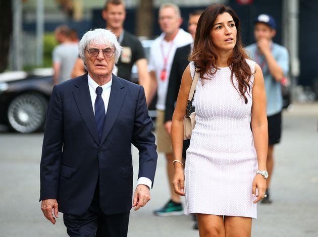 Ecclestone with his wife Fabiana
