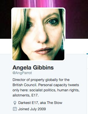 Angela Gibbins' Twitter