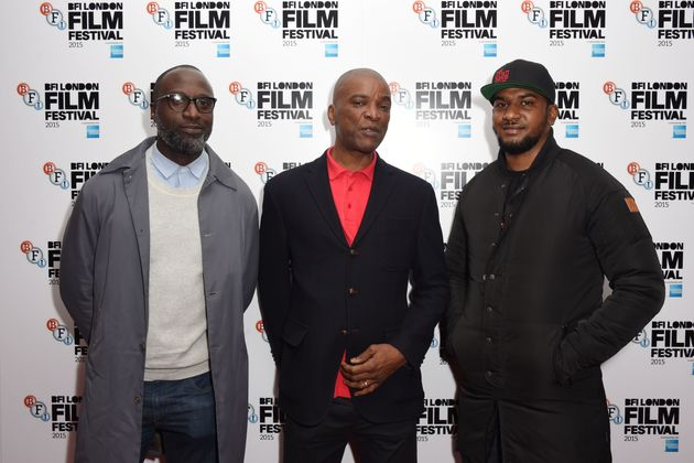 George Amponsah, Scott and Marcus Knox Hooke attend 'The Hard Stop' screening during the BFI London Film...