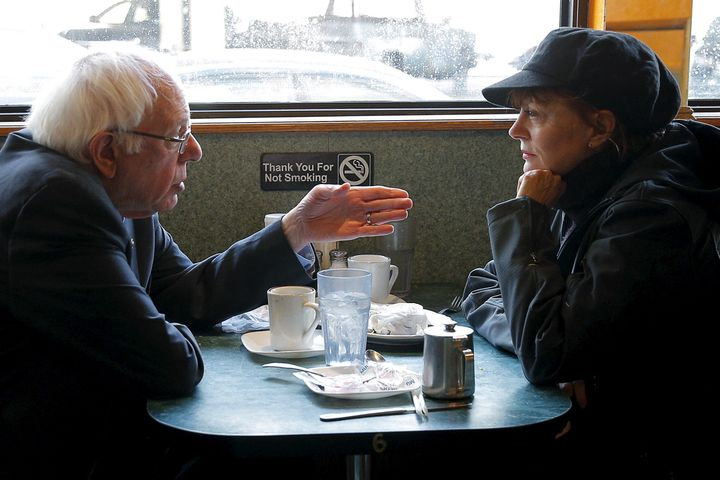 Actress Susan Sarandon had repeatedly joined Senator Sanders on the campaign trail. She's seen with him at a diner in Brookly