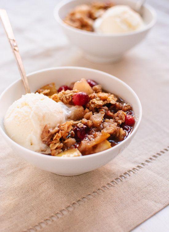 "<strong>Get the <a href=""http://cookieandkate.com/2013/pear-cranberry-crisp/"" target=""_blank"">Pear Cranberry Crisp recipe</a>"