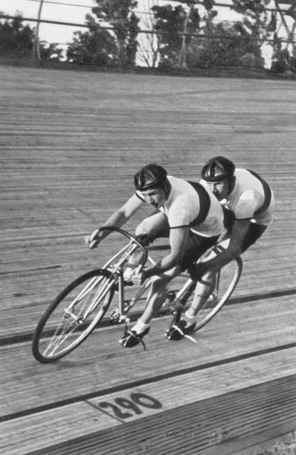 Tandem cycling, which saw two two-men teams racing over 2,000 meters, was a major fixture of the Olympic program from <a href