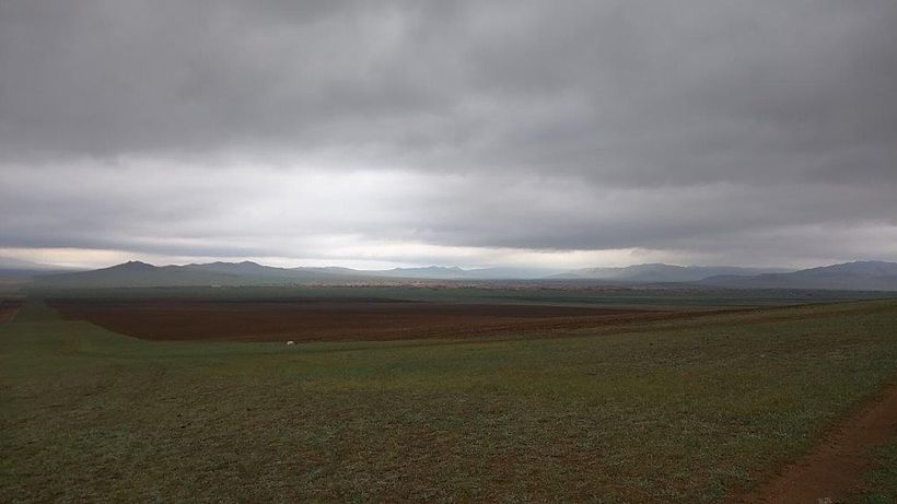Mongolia's landscape stretches endlessly into the far off horizon