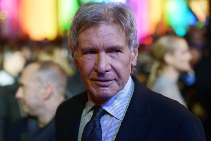 HarrisonFord attends the european premiere of 'Star Wars: The Force Awakens' in 2015.