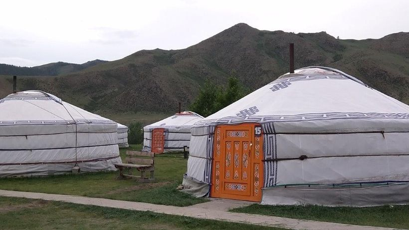 <i>Ge</i>r camp doors are colorfully painted