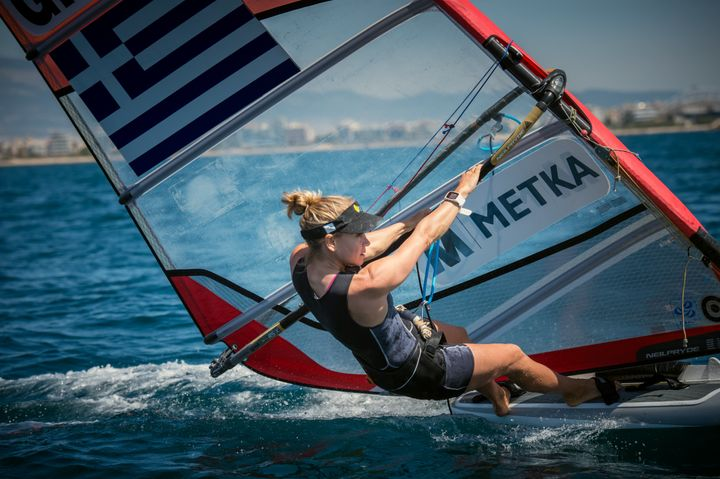 Windsurfer Angeliki Skarlatou, a four-time Olympian, sought out a sponsorship with energy contractor Metka to get to Rio 2016