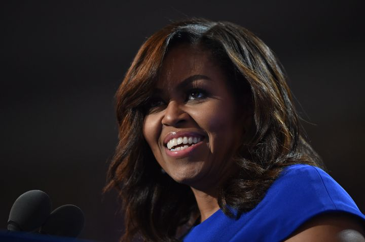 First lady Michelle Obama wowed the crowd atthe Democratic National Convention in Philadelphia on July 25, 2016.