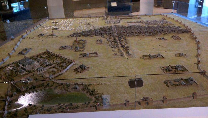 A model in the Karakorum Museum shows the historic city site