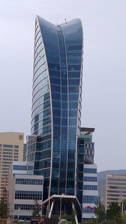 Blue Sky Hotel and Tower skyscraper in Ulaan Baatar