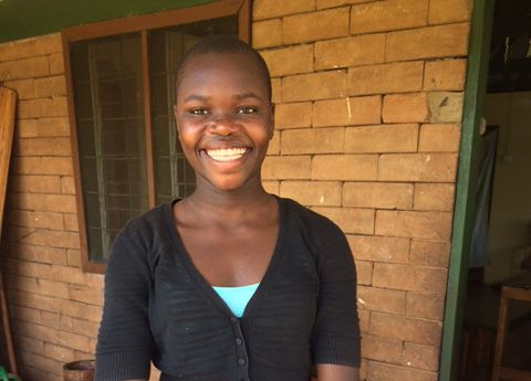A photo of Gloria sent to me on Father's Day fromthe orphanage in Uganda, Restoration Gateway, where she is living.