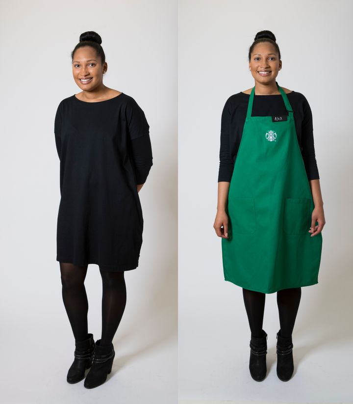 Dresses with tights are also welcome in the new Starbucks dress code.