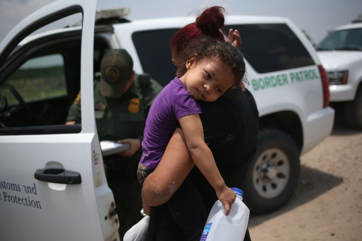 Border agents apprehended tens of thousands of families at the U.S.-Mexico border in 2014, most of them seeking asylum from C