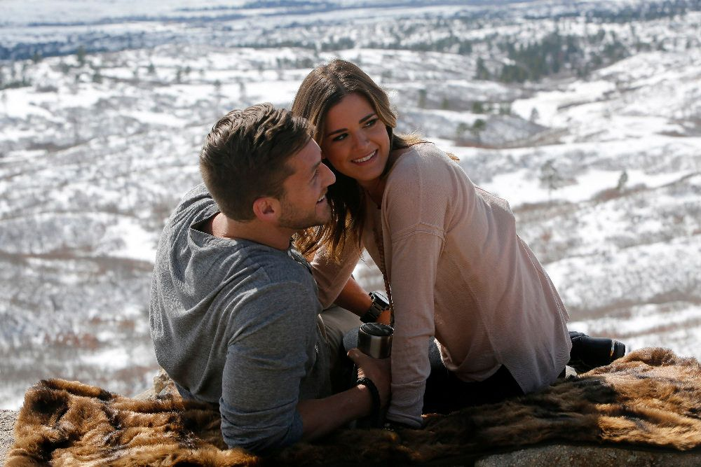"""THE BACHELORETTE - """"Episode 1208"""" - JoJo's emotionally charged, whirlwind world tour to find love comes back to the U.S. as she travels across country to visit Chase, Jordan, Luke and Robby. Her spirit and resilience is about to be tested by the men and their loved ones, as she tries to figure out if she can love more than one man at a time. Are all these bachelors ready to be married? JoJo will try and find out from the people who know them best, as she moves closer to making her fairytale come true, on """"The Bachelorette,"""" MONDAY, JULY 18 (8:00-10:01 p.m. EDT), on the ABC Television Network. (ABC/Adam Larkey)CHASE, JOJO FLETCHER"""