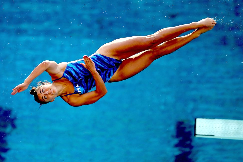 Kassidy Cook of the United States competes in the semifinal of the women's 3m Springboard during the FINA Diving World Cup -