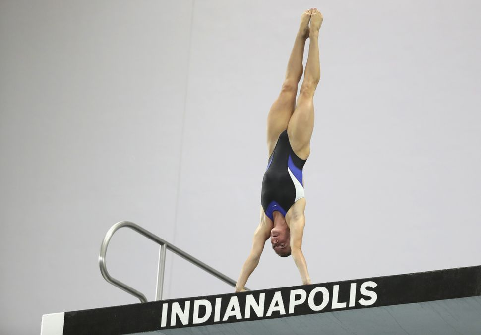 Katrina Young competes in the Women's 10m Platform final during day 8 of the 2016 U.S. Olympic Team Trials for diving on June