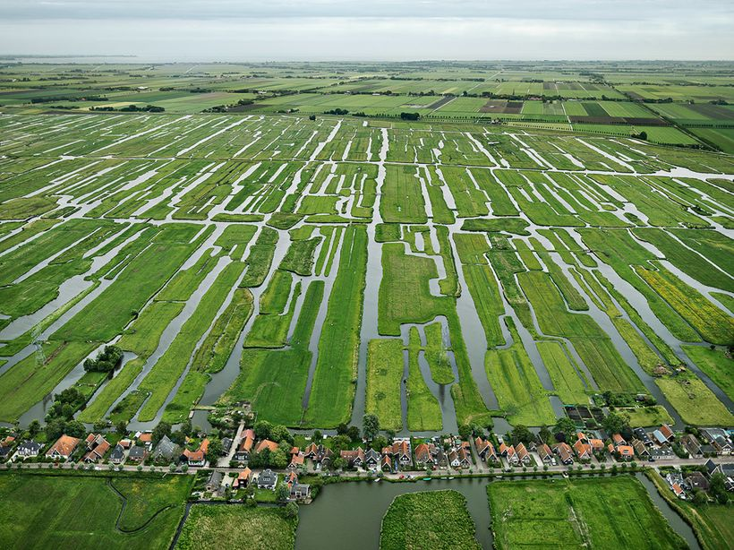 <i>An array of polders and dikes inthe countryside ofGrootschermer, the Netherlands.</i>