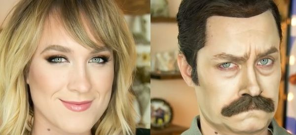 Watch This Makeup Artist Transform Herself Into Ron Swanson