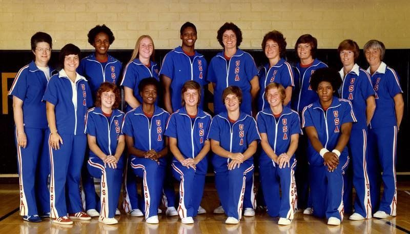 The first U.S. Olympic women's basketball team.