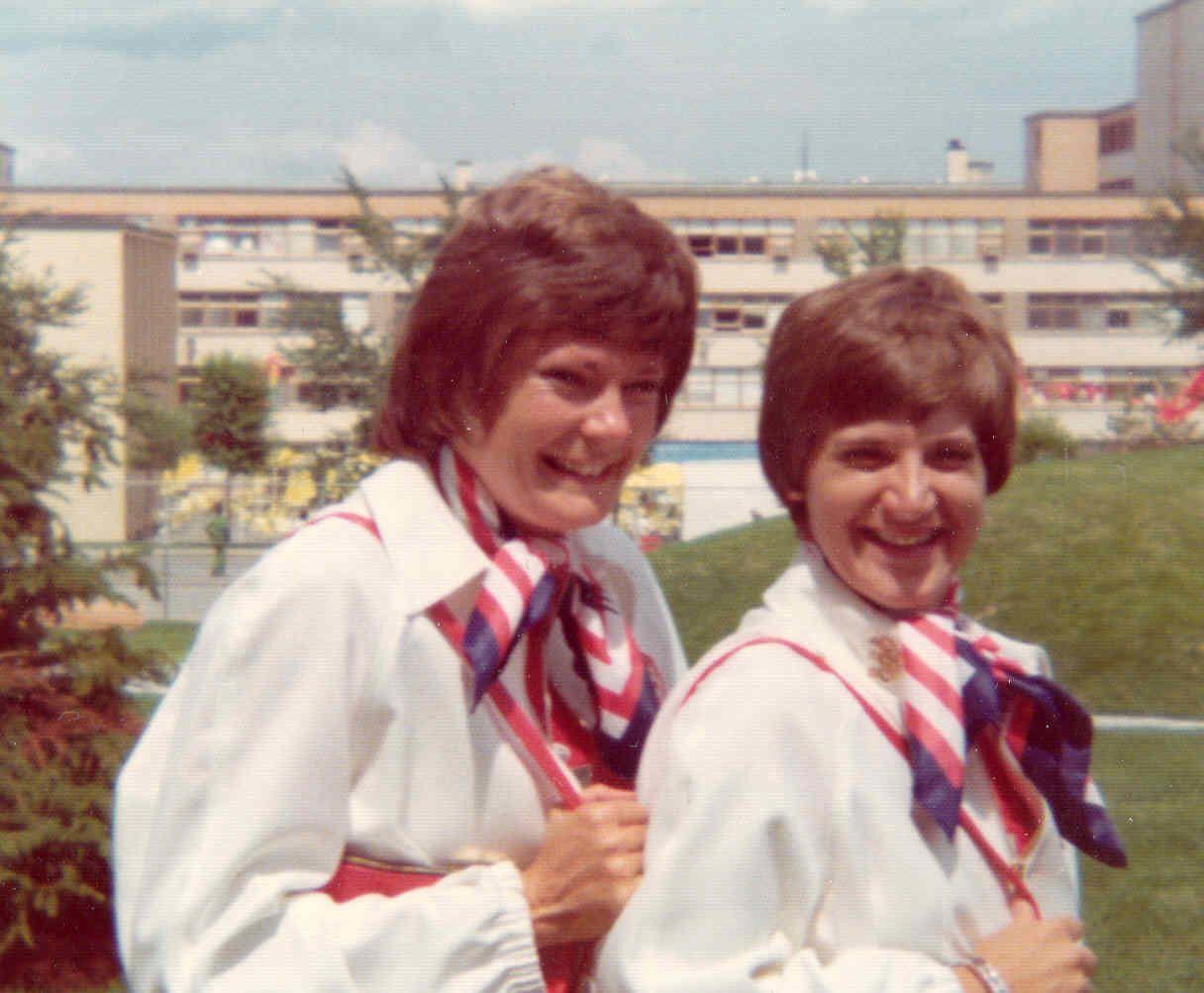 Co-captains Pat Head and Juliene Simpson share a smile.