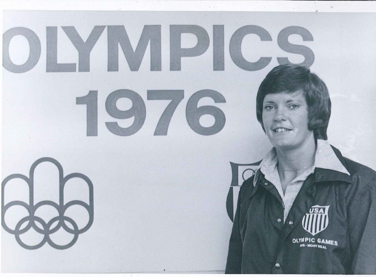 Co-captain Pat Head basks in the glory of the '76 Summer Olympics.
