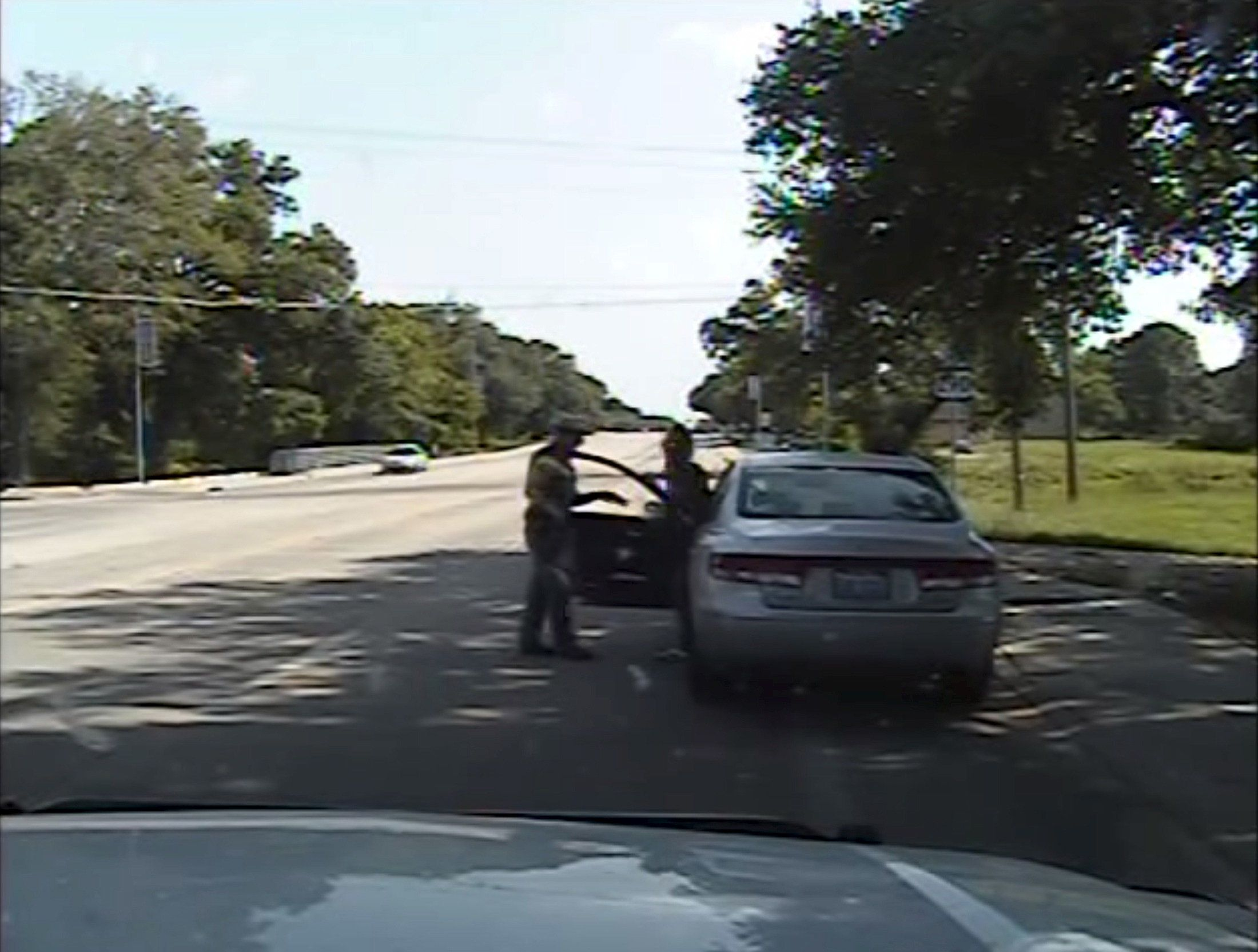 Footage from a patrol car's dashcam shows Texas state Trooper Brian Encinia arguing with Sandra Bland during a July 10, 2015,