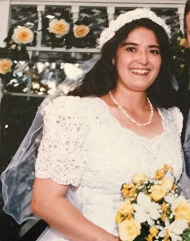 Herrera on her wedding day.