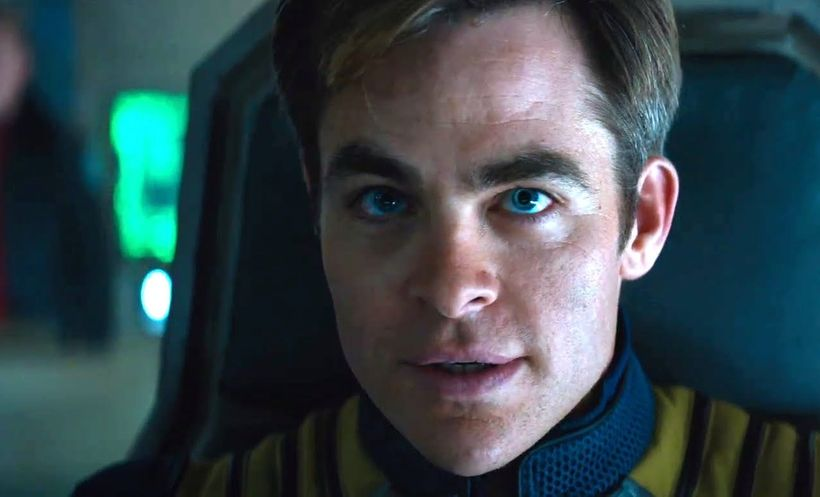 <strong>Chris Pine as Captain James T. Kirk</strong>