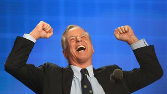 PHILADELPHIA, PA - JULY 26:  Former Gov. Howard Dean (D-VT) reenacts his Iowa Caucus 'Dean Scream' moment during closing remarks on the second day of the Democratic National Convention at the Wells Fargo Center, July 26, 2016 in Philadelphia, Pennsylvania. Democratic presidential candidate Hillary Clinton received the number of votes needed to secure the party's nomination. An estimated 50,000 people are expected in Philadelphia, including hundreds of protesters and members of the media. The four-day Democratic National Convention kicked off July 25.  (Photo by Joe Raedle/Getty Images)