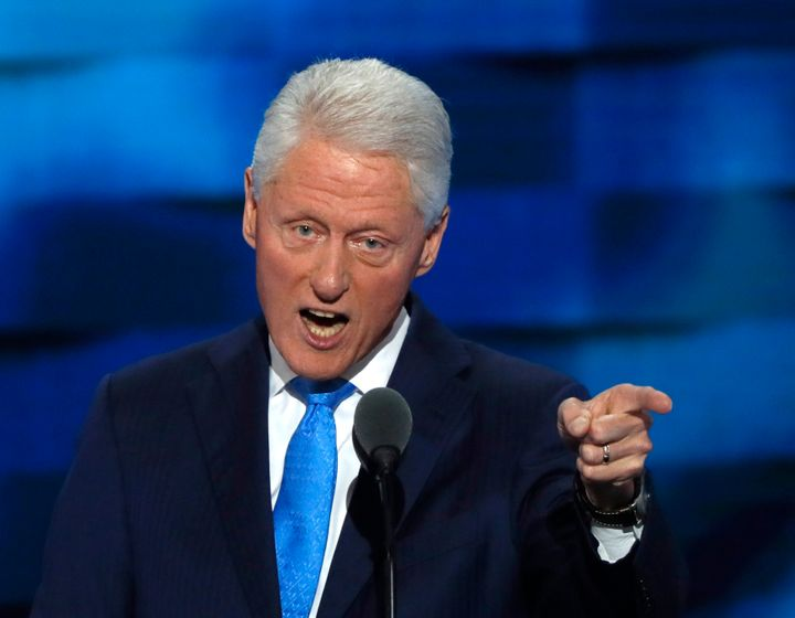 Former U.S. President Bill Clinton speaks during the second night at the Democratic National Convention in Philadelphia, Penn