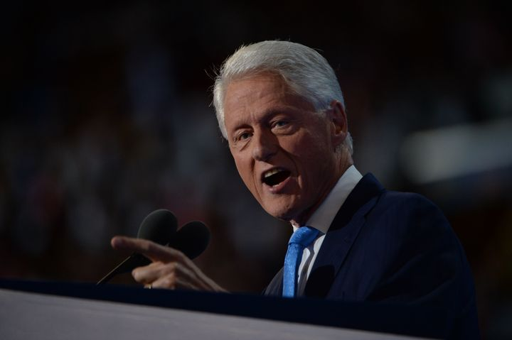 Former President Bill Clinton spoke about his relationship with wife Hillary on the second night of the Democratic National C