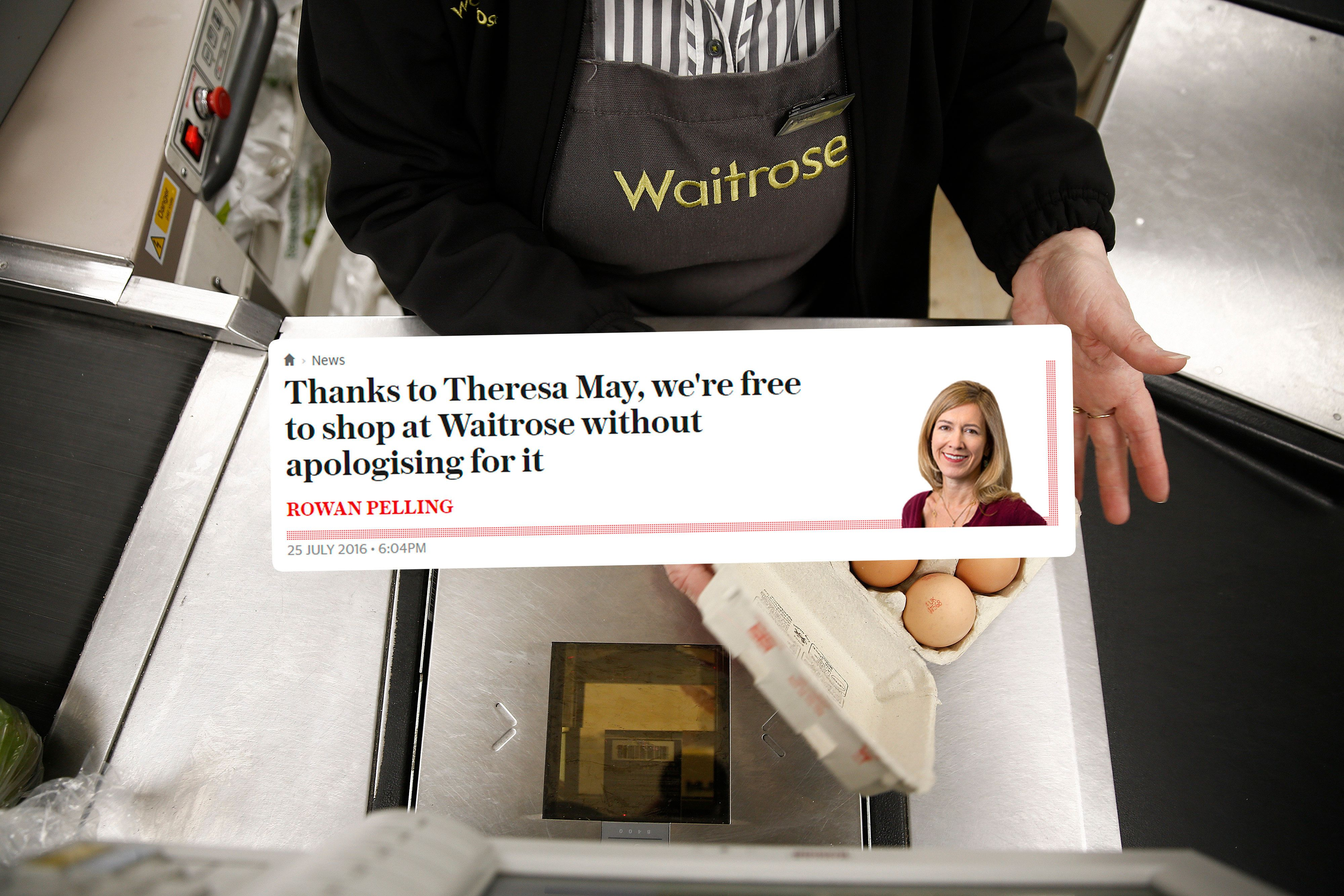 Waitrose Shoppers Can Finally Shop Guilt-Free Thanks To Theresa May,