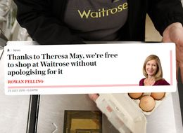 Waitrose Shoppers Can Finally Shop Guilt-Free Thanks To Theresa May, Apparently