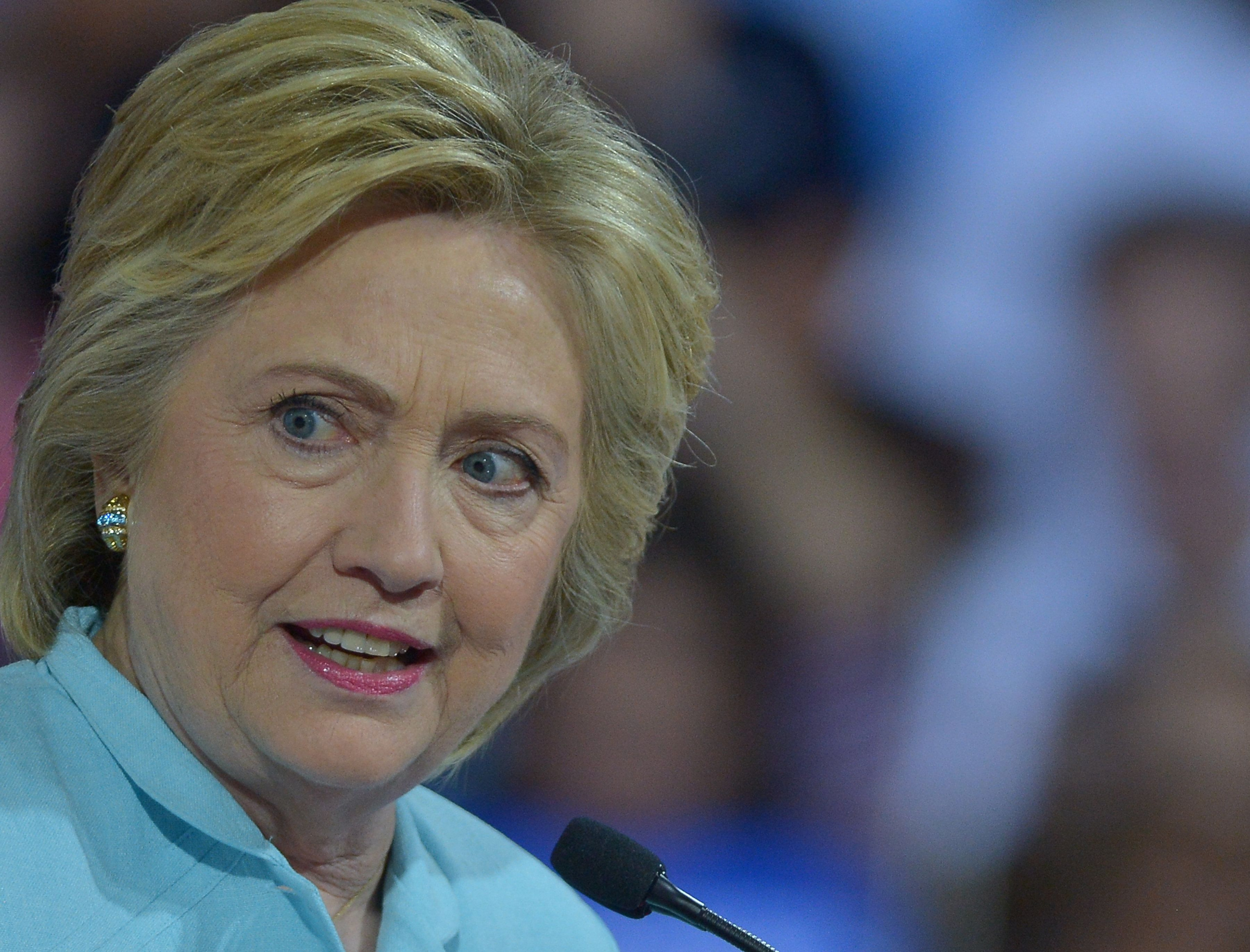 "Democratic presidential nominee Hillary Clinton is like, ""what?"""