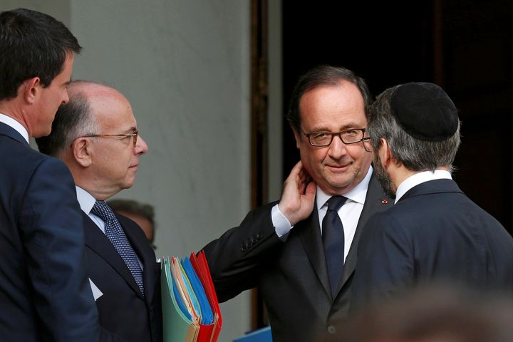 French President Francois Hollande met with France's religious leaders on Wednesday after two Islamist milita