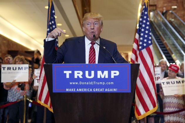 U.S. Republican presidential candidate Donald
