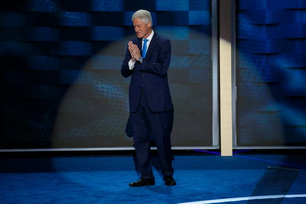 Bill Clinton makes the case for his wife, Hillary Clinton's, bid for the presidency at the 2016 Democratic National Conv