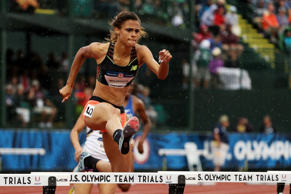 Sydney McLaughlin competes in the Women's 400 Meter Hurdles during the 2016 U.S. Olympic Track & Field Team Trials on Jul
