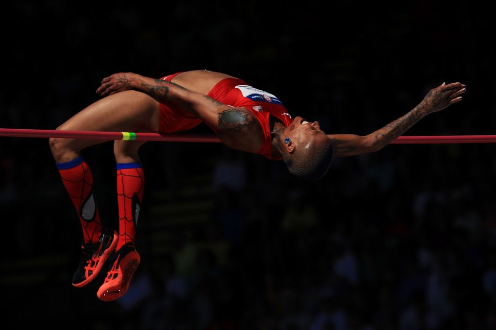 Inika McPherson competes in the Women's High Jump Final during the 2016 U.S. Olympic Track & Field Team Trials on July 3,