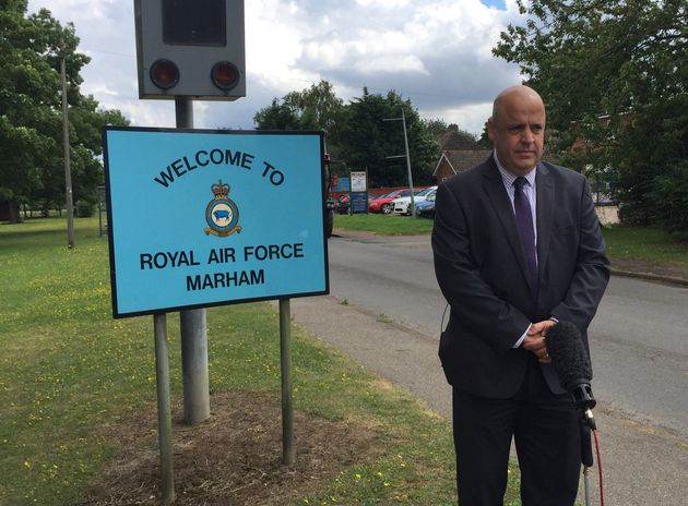 Detective Superintendent Paul Durham outside RAF Marham where the attempted kidnapping