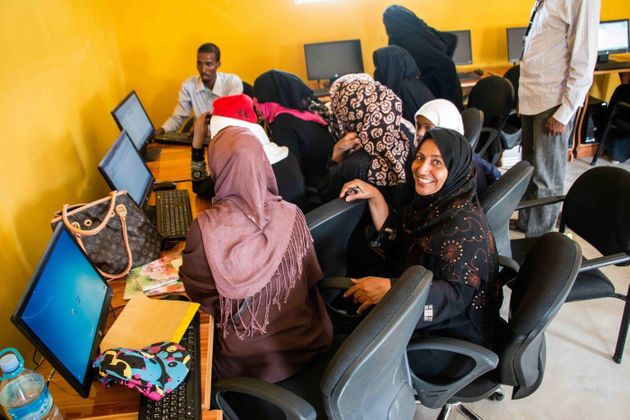 Ashley Hamer Yemeni and Somali women come together at a local community center in Hargeisa to equip themselves with skills that will lead to employment. Many are now fending for themselves in a country that is foreign to them.